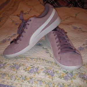 Puma purple sneakers